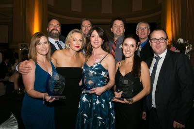Vantage Home Qld team with the three 2018 Stockland Awards