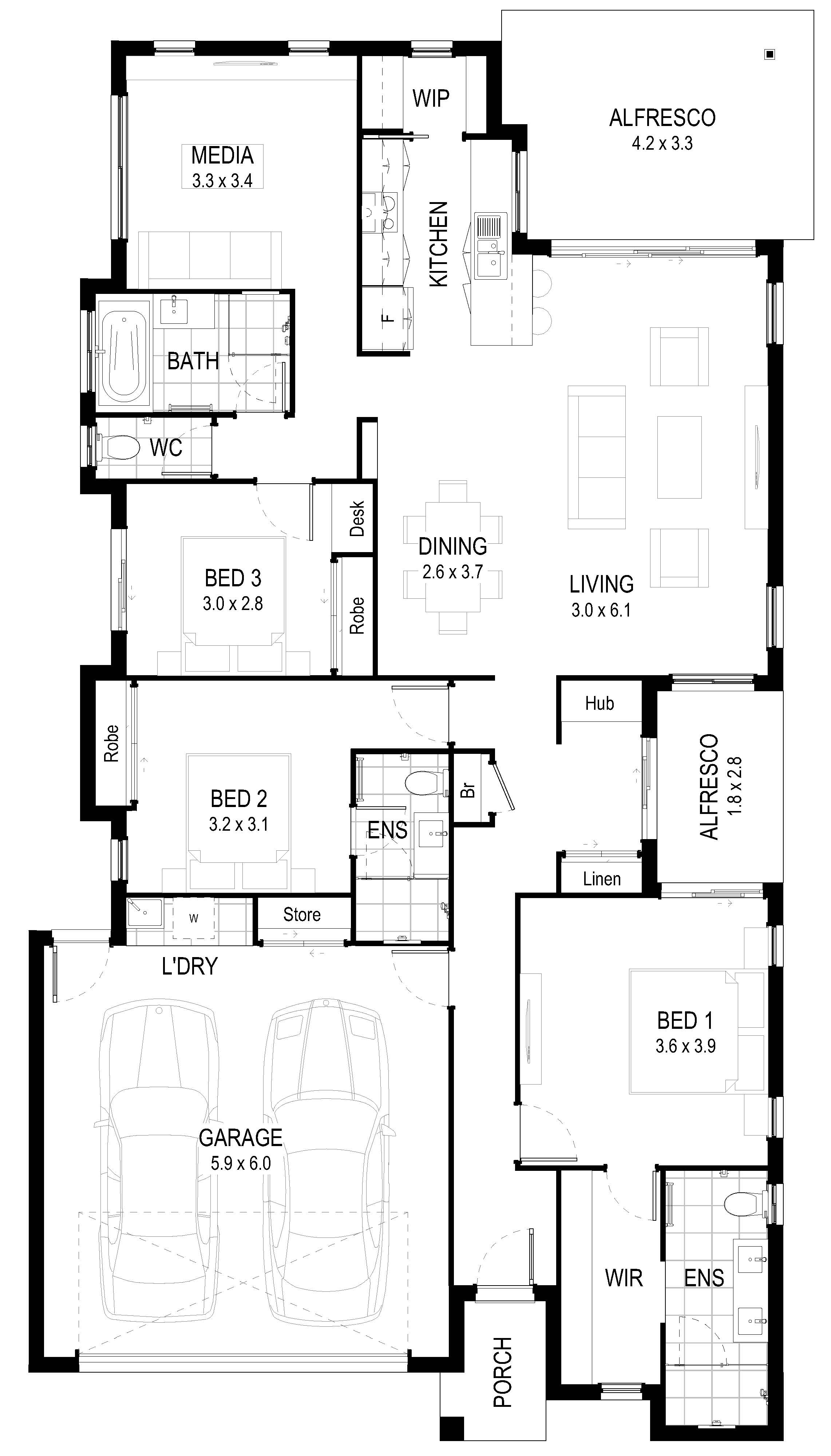 8 M Wide Home Designs Part - 40: Plans And Illustrations Are For Marketing Purposes - Dimensions And Colours  Are Provided As A Guide Only. Some Homes May Be Mirror Reversed Versions Of  This ...